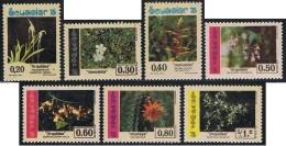 Ecuador 937/43 1975 Flora Genciana Bromeliaceae Pitaya MNH - Francobolli