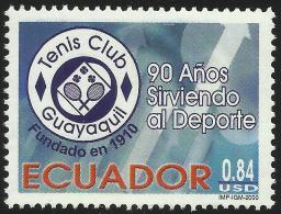 Ecuador 1508 2000 90 Aniversario Tennis Club Guayaquil MNH - Zonder Classificatie