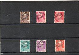 FRANCE  6 Timbres    1922-47   Marianne De Gandon    Préoblitérés - Préoblitérés