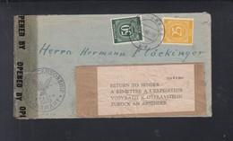 Alliierte Besetzung Brief 1946 Starnberg Zensur Return To Sender - Bizone