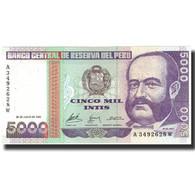 Billet, Pérou, 5000 Intis, 1988, 1988-06-28, KM:137, SPL+ - Pérou