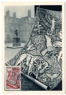 CARTE MAXIMUM FRANCE 1954 / PARIS  = CACHET FDC PREMIER JOUR N° 970 METIERS D' ART / TAPISSERIE - Maximum Cards