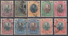 BULGARIA - 1901 - Lotto Composto Da Dieci Valori Usati, Come Da Immagine. - 1879-08 Fürstentum