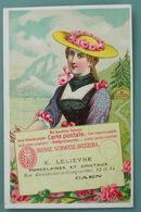 Vers 1880 : CHROMO UNION POSTALE UNIVERSELLE SUISSE Fabriques De Porcelaines E. Lelièvre Caen Chromolithography - Sonstige