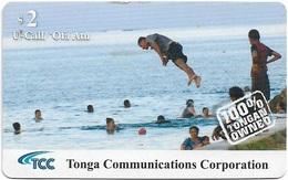 Tonga - TCC - Floating People - Remote Mem. Exp.31.12.2012, 2$, Used - Tonga