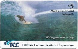 Tonga - TCC - Surfing - Remote Mem. Exp.30.06.2006, 5$, Used - Tonga