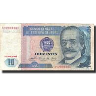Billet, Pérou, 10 Intis, 1985, 1985-04-03, KM:128, TB+ - Pérou