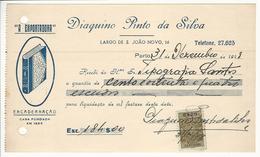 Receipt * Portugal * 1948 * Porto * ''A Exportadora'' Encadernação * Holed - Portugal