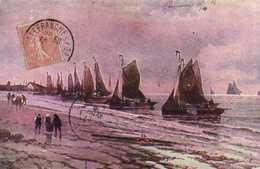 Illustrateursigné  Débarquement Des Bateaux De Peche ! RV - Paintings