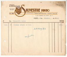 Invoice * Portugal * 1949 * Porto * Silvestre Pinto * Oficina De Encadernação * Holed - Portugal