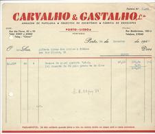 Invoice * Portugal * 1948 * Porto * Carvalho & Gastalho, Lda * Holed - Portugal