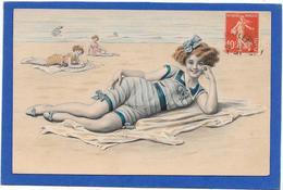VIENNOISE De MM VIENNE - Jolie Fille Rousse En Maillot De Bain Sur La Plage - Fancy Cards