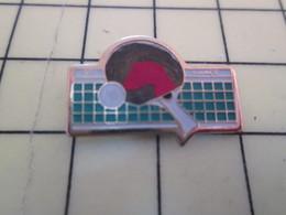 2317 : Pin's Pins / RARE & BELLE QUALITE / THEME : SPORTS /  CLUB RAQUETTE FILET TENNIS DE TABLE PING PONG - Table Tennis