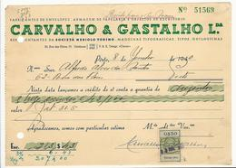 Credit Note * Portugal * 1940 * Porto * Carvalho & Gastalho Lda * Holed - Portugal