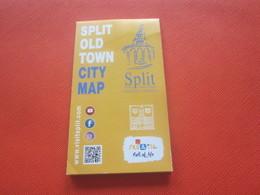 Hrvatska CROATIE--SPLITOLD TOWN CITY MAP -улазна карта-Trip-Ticket Entrée,Entry,Billet,Biglietto,Eintrittskarte,ulaznicu - Europe
