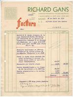 Invoice * Spain * 1934 * Madrid * Richard Gans * Holed - Spain