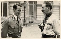 Photo Postcard / ROYALTY / Belgium / Belgique / Roi Baudouin / Koning Boudewijn / Major General Daniel Spry / 1955 - Scoutisme