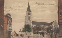 Allemagne - Landau In Der Pfalz - Bismarckstrasse Und Kath. Kirche - Postmarked 1916 - Cachet - Landau
