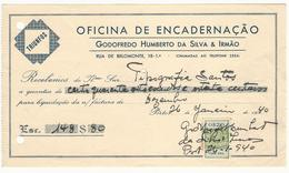 Receipt * Portugal * 1940 * Porto * Oficina De Encadernação * Godofredo Humberto Da Silva & Irmão * Holed - Portugal