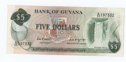 A195 Guyana 5 Dollars (jamais Circulé) - Guyana