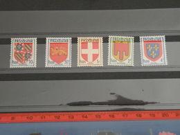 Timbres Neuf 1949 >  Série N°834 à 838 - Y&T - Armoiries De Provinces - Coté 2,10€ - Frankrijk