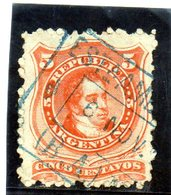 B - 1868 Argentina - Bernardino Rivadavia - Usati