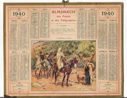 ALMANACH DES POSTES ET DES TELEGRAPHES / CALENDRIER DE 1940 / CAÏD MAROCAIN EN TOURNEE / Dép. SEINE + PLAN De METRO - Calendars