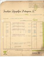 Invoice * Portugal * 1941 * Porto * Fundição Tipográfica Portuguesa, Lda * Holed - Portugal