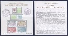 BF Orphelins De Guerre - Paris Philex (2018) Neuf** - Blocs & Feuillets