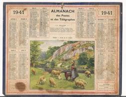 ALMANACH DES POSTES ET DES TELEGRAPHES / CALENDRIER DE 1941 / BERGÈRE , BORDS DE LA CREUSE ( Signé BEUZON ) / Dép. SEINE - Big : 1941-60