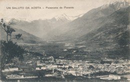 U.80.  Un Saluto Da AOSTA - Panorama Da Ponente - Aosta