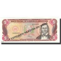Billet, Dominican Republic, 5 Pesos Oro, 1993, 1993, Specimen, KM:143s, NEUF - Dominicana