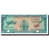Billet, Dominican Republic, 500 Pesos Oro, Undated (1964-74), Specimen - Dominicaine
