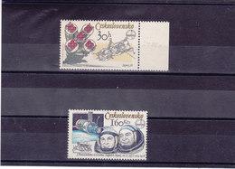 TCHECOSLOVAQUIE 1979  ESPACE Yvert 2317a + 2319a NEUF** MNH - Tchécoslovaquie