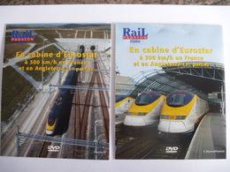 TRAINS : EN CABINE D'EUROSTAR à 300 Km/h En FRANCE Et En ANGLETERRE - LOT De 2 DVD La Vie Du Rail - Documentary