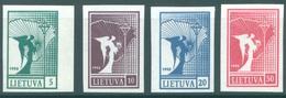 LIETUVA - 1990 - NO GUM (*)  - REPUBLIQUE - Yv 390-393 Mi 457-460 - Lot 17055 - Lituanie