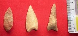 3 Pointes De Flèche. Néolithique. - Minerales & Fósiles