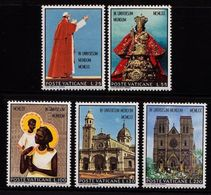 Vatican City 1970 Journey Of Pope Paul Vi To Asia And Oceania People Religions Art Architecture Stamps MNH Sc#495-499 - Churches & Cathedrals