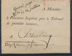 Jolie Enveloppe En Franchise Avec Griffe Grand Juge - Mtre De La Justice P4082 - Frankobriefe