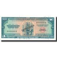 Billet, Dominican Republic, 500 Pesos Oro, 1975, 1975, Specimen, KM:114s, NEUF - Dominicaine