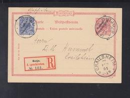 Deutsch-Südwestafrika R-PK 1901 Outjo Nach Crailsheim - Kolonie: Deutsch-Südwestafrika