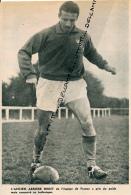 FOOTBALL : PHOTO, U.S. CONCARNEAU, LAZARE GIANESSI, ANCIEN ARRIERE DE L'EQUIPE DE FRANCE, COIFFE, COUPURE REVUE (1961) - Calcio