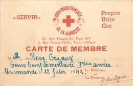 CARTE DE MEMBRE CROIX ROUGE FRANCAISE 1943. Marmande . - Historische Documenten