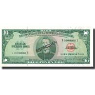 Billet, Dominican Republic, 10 Pesos Oro, 1975, 1975, Specimen, KM:101s3, NEUF - Dominicana