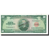 Billet, Dominican Republic, 10 Pesos Oro, 1975, 1975, Specimen, KM:101s3, NEUF - Dominicaine