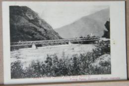 PONT CANAVESE  NUOVO PONTE DELLA FERROVIA VIAGGIATA 1906 - Other Cities