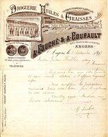 49.ANGERS.DROGUERIE.HUILES & GRAISSES.A.FOUCHE & A.COURAULT RUE THIERS & DES LUISETTES. - Chemist's (drugstore) & Perfumery