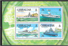 Gibraltar 1993 Warships World War II (I) Mi Bloc 18 MNH(**) - Gibraltar