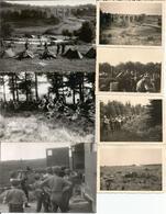 ABO Armée Belge D'Occupation En Allemagne 1948 Manoeuvres Près Du Viaduc De WILLINGEN (Sauerland) 7 Photos - Militaria