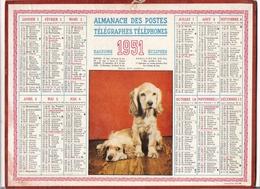 ALMANACH DES POSTES ET DES TELEGRAPHES / CALENDRIER DE 1952 / AMERICAINE + 3 PERROQUETS / Liste Bureaux De POSTE à PARIS - Big : 1941-60